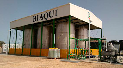 aprovechamiento lixiviados Grupo Biaqui
