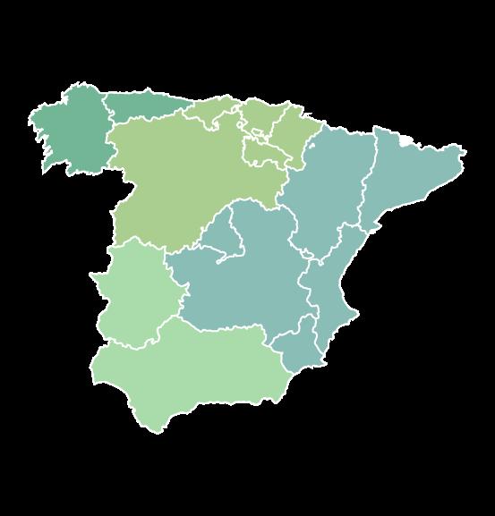 Mapa de las sedes de cta consultora medioambiental